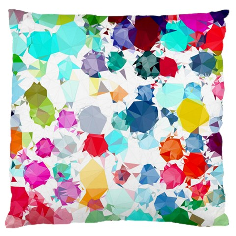 Colorful Diamonds Dream Large Flano Cushion Case (Two Sides)