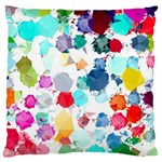 Colorful Diamonds Dream Large Flano Cushion Case (Two Sides) Back