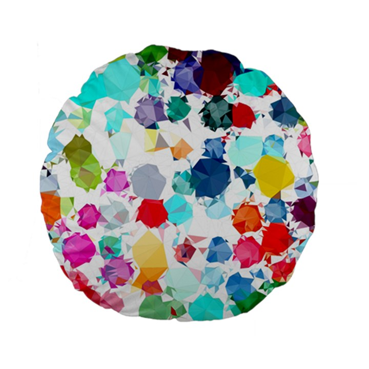 Colorful Diamonds Dream Standard 15  Premium Flano Round Cushions
