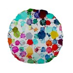 Colorful Diamonds Dream Standard 15  Premium Flano Round Cushions Back