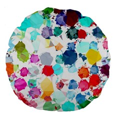 Colorful Diamonds Dream Large 18  Premium Flano Round Cushions