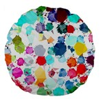 Colorful Diamonds Dream Large 18  Premium Flano Round Cushions Back
