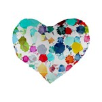 Colorful Diamonds Dream Standard 16  Premium Flano Heart Shape Cushions Back