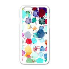 Colorful Diamonds Dream Apple iPhone 6/6S White Enamel Case