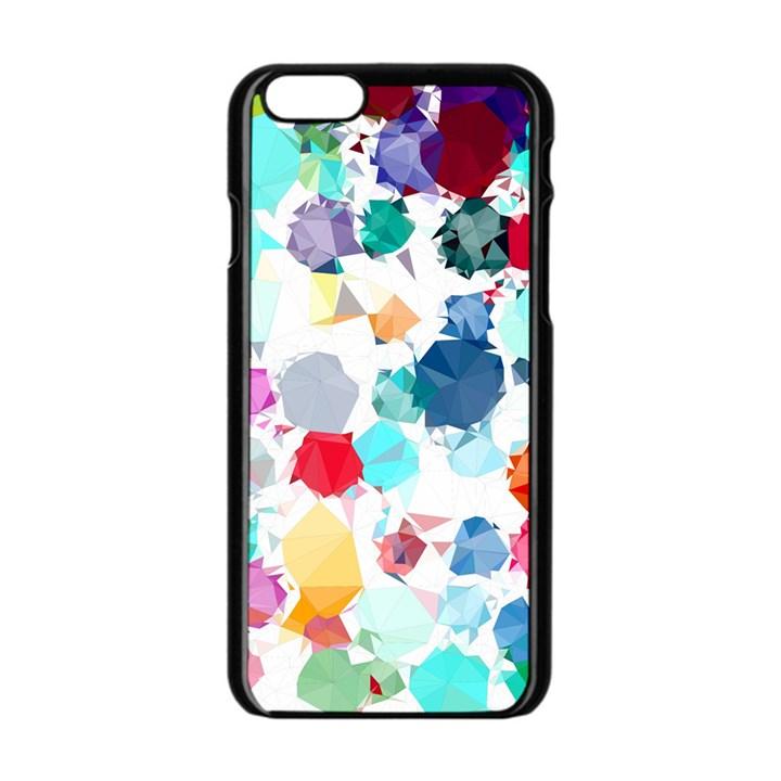 Colorful Diamonds Dream Apple iPhone 6/6S Black Enamel Case