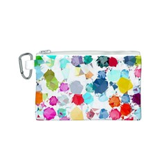 Colorful Diamonds Dream Canvas Cosmetic Bag (S)