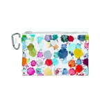 Colorful Diamonds Dream Canvas Cosmetic Bag (S) Front
