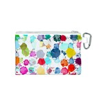 Colorful Diamonds Dream Canvas Cosmetic Bag (S) Back