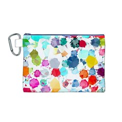 Colorful Diamonds Dream Canvas Cosmetic Bag (m)