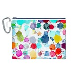 Colorful Diamonds Dream Canvas Cosmetic Bag (L) Front