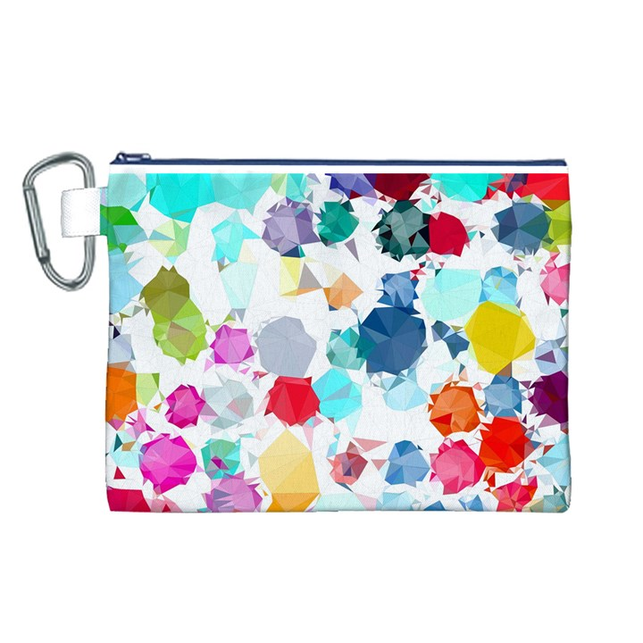 Colorful Diamonds Dream Canvas Cosmetic Bag (L)