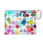 Colorful Diamonds Dream Canvas Cosmetic Bag (L) Back