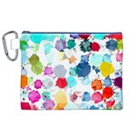 Colorful Diamonds Dream Canvas Cosmetic Bag (XL) Front