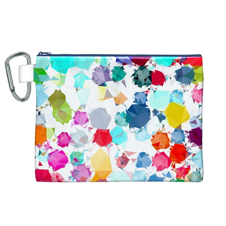 Colorful Diamonds Dream Canvas Cosmetic Bag (XL)