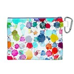 Colorful Diamonds Dream Canvas Cosmetic Bag (XL) Back