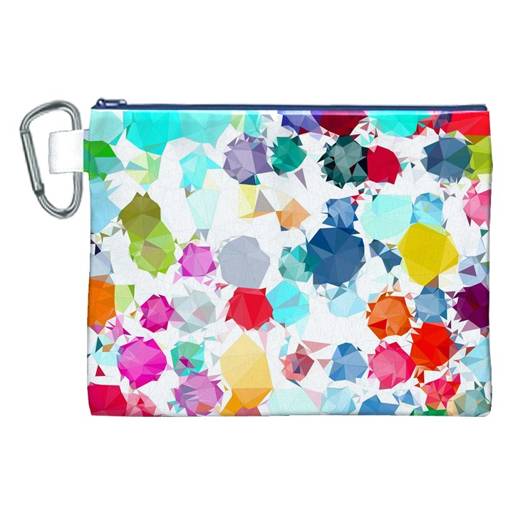 Colorful Diamonds Dream Canvas Cosmetic Bag (XXL)