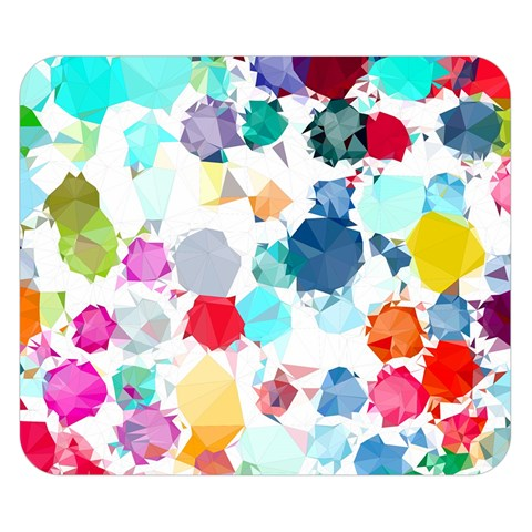 Colorful Diamonds Dream Double Sided Flano Blanket (Small)