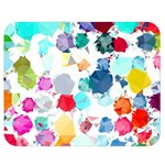 Colorful Diamonds Dream Double Sided Flano Blanket (Medium)  60 x50 Blanket Back