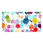 Colorful Diamonds Dream Satin Shawl Front