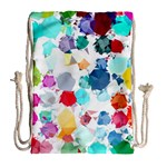 Colorful Diamonds Dream Drawstring Bag (Large) Back