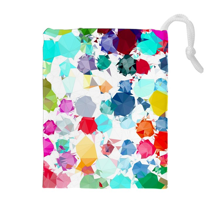 Colorful Diamonds Dream Drawstring Pouches (Extra Large)