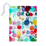 Colorful Diamonds Dream Drawstring Pouches (Extra Large) Back
