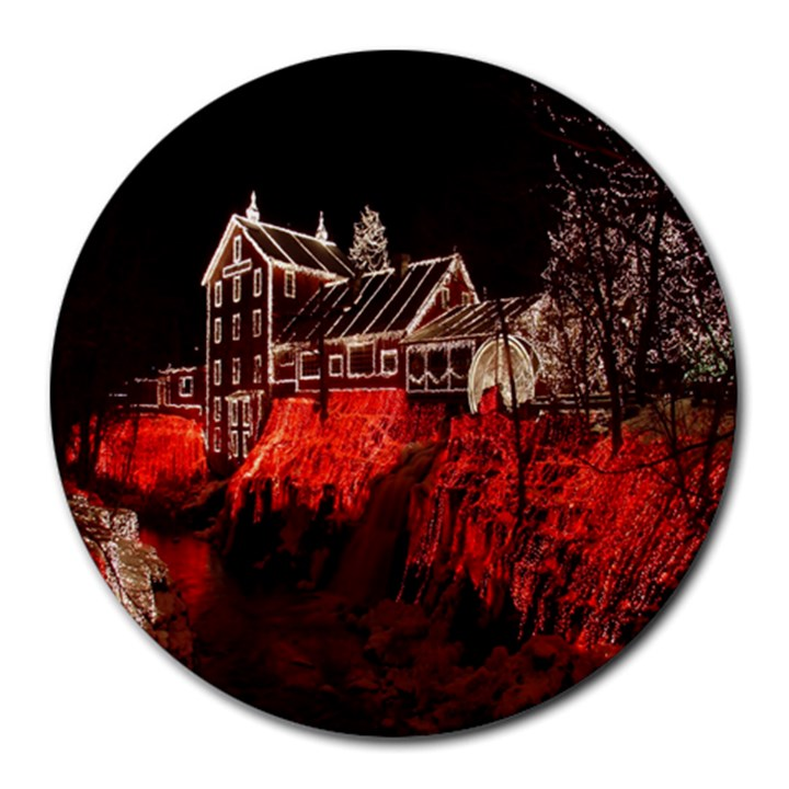 Clifton Mill Christmas Lights Round Mousepads