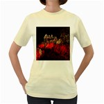 Clifton Mill Christmas Lights Women s Yellow T-Shirt Front