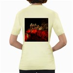 Clifton Mill Christmas Lights Women s Yellow T-Shirt Back