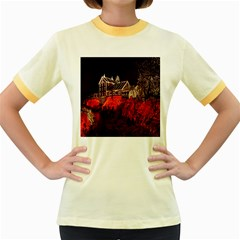 Clifton Mill Christmas Lights Women s Fitted Ringer T-Shirts