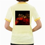 Clifton Mill Christmas Lights Women s Fitted Ringer T-Shirts Back