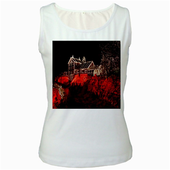 Clifton Mill Christmas Lights Women s White Tank Top