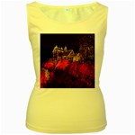 Clifton Mill Christmas Lights Women s Yellow Tank Top Front