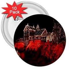 Clifton Mill Christmas Lights 3  Buttons (10 pack)