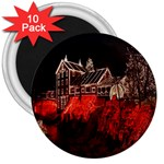 Clifton Mill Christmas Lights 3  Magnets (10 pack)  Front