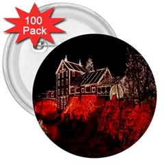 Clifton Mill Christmas Lights 3  Buttons (100 pack)