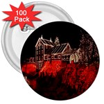 Clifton Mill Christmas Lights 3  Buttons (100 pack)  Front