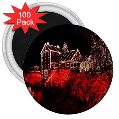 Clifton Mill Christmas Lights 3  Magnets (100 pack)