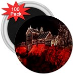 Clifton Mill Christmas Lights 3  Magnets (100 pack) Front