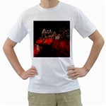 Clifton Mill Christmas Lights Men s T-Shirt (White) (Two Sided) Front