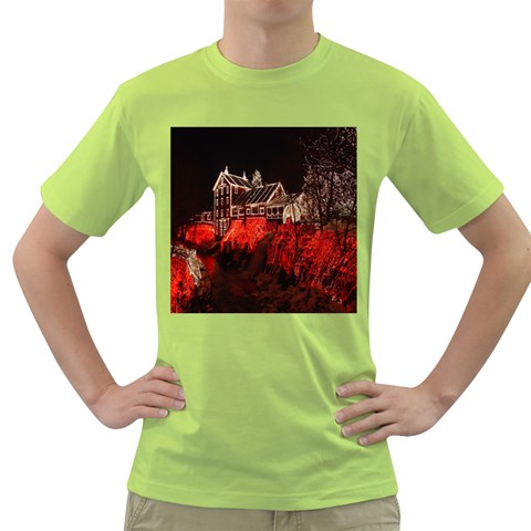 Clifton Mill Christmas Lights Green T-Shirt