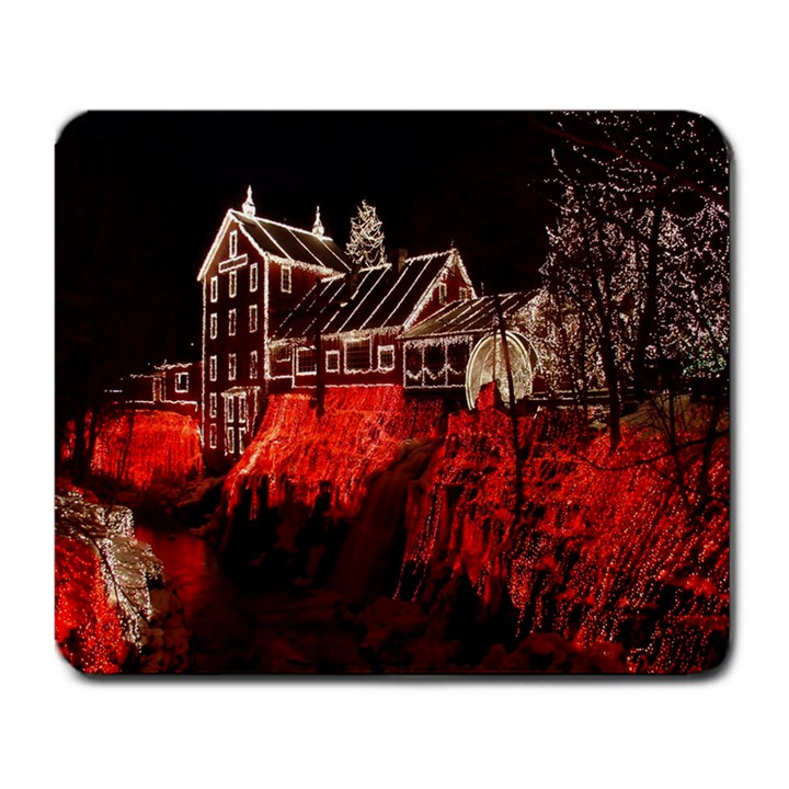 Clifton Mill Christmas Lights Large Mousepads