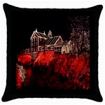 Clifton Mill Christmas Lights Throw Pillow Case (Black) Front