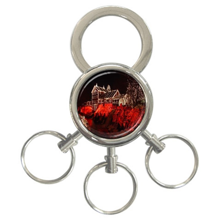 Clifton Mill Christmas Lights 3-Ring Key Chains