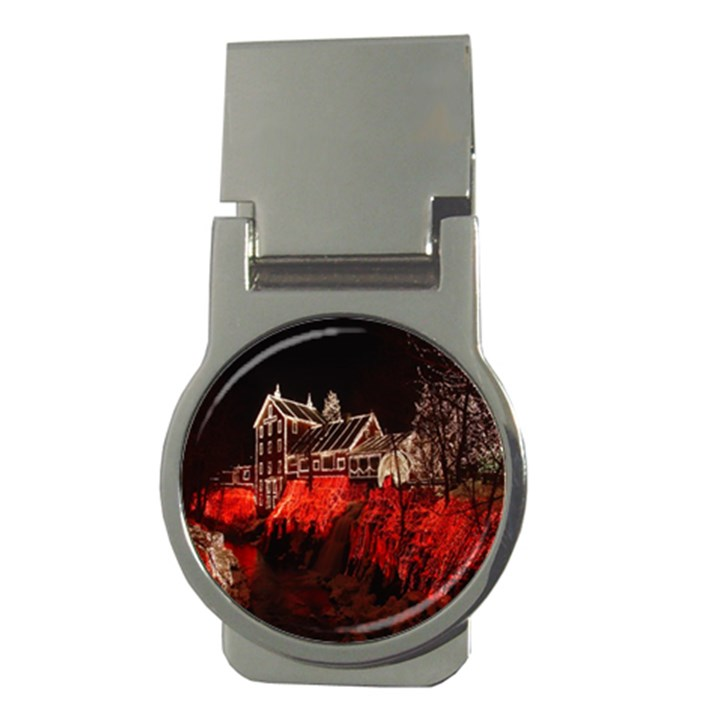 Clifton Mill Christmas Lights Money Clips (Round)