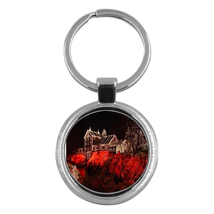 Clifton Mill Christmas Lights Key Chains (Round)