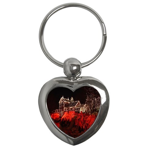 Clifton Mill Christmas Lights Key Chains (Heart)