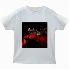 Clifton Mill Christmas Lights Kids White T-Shirts