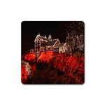 Clifton Mill Christmas Lights Square Magnet Front