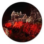 Clifton Mill Christmas Lights Magnet 5  (Round) Front